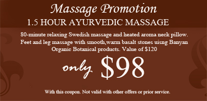 Allure Massage Spa Promotion