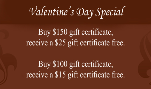 Valentines Day Gift Certificate Promotion